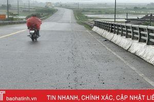 Đá dăm rải đầy tuyến quốc lộ đẹp ở Hà Tĩnh
