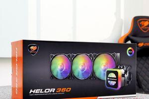 Cận cảnh bộ đôi tản nhiệt AIO Cougar Helor với LED RGB