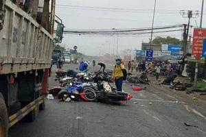 Xe container chạy 45km/h khi đâm hơn 20 xe máy và khiến hàng chục người thương vong