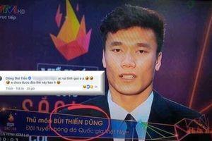 Thủ môn Bùi Tiến Dũng lên tiếng khi bị VTV viết sai tên thành 'Bùi Thiến Dũng'