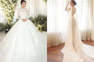 5 chiếc váy cưới lộng lẫy nhất của sao Việt trong năm 2018