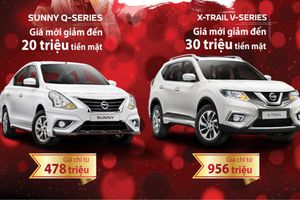 Bảng giá xe Nissan tháng 1/2019: Nissan X-Trail và Sunny giảm giá tới 30 triệu đồng
