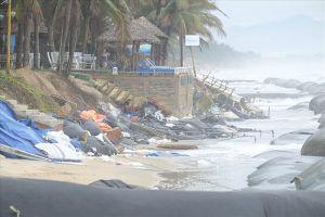 Hội An: Bờ biển Cửa Đại lại bị sạt lở