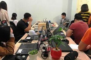 Triệt phá đường dây đánh bạc qua mạng quốc tế do người Trung Quốc cầm đầu