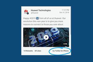 Hai nhân viên dùng iPhone để đăng bài lên tài khoản Twitter của Huawei nhận 'trái đắng'