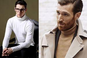 Cách phối đồ với áo len cổ lọ nam cho ngày đông thêm 'ngầu'