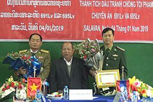 Lào trao thưởng thành tích đấu tranh phòng chống tội phạm ma túy cho BĐBP Quảng Trị