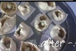Cười đau ruột cô gái làm bánh bao chưa có kinh nghiệm, nặn tạo hình nhưng hấp xong nhìn thành quả mới phát hoảng