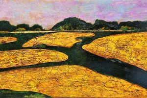 Sắc màu sơn mài huyền ảo trong tranh Hiền Nguyễn