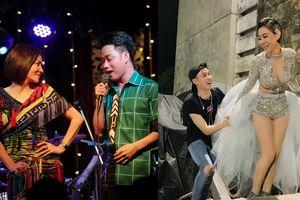 Trúc Nhân ngụy trang thành trợ lý, không ngần ngại xách váy cho Thu Minh đi diễn