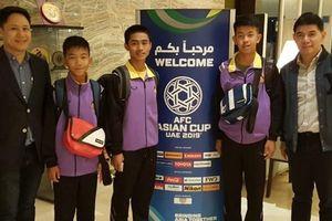Đội bóng nhí Thái Lan mắc kẹt dưới hang là khách mời danh dự Asian Cup