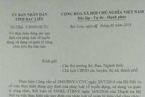 Sở GTVT Bạc Liêu 'phớt lờ' chỉ đạo của UBND tỉnh
