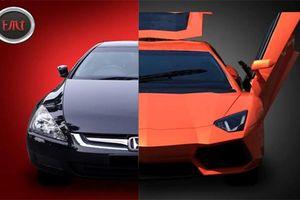 Hô biến Honda Accord cũ thành siêu xe Lamborghini 'hàng khủng'