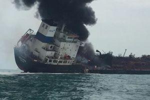 Xác định được quê quán 25 thuyền viên tàu chở dầu bốc cháy