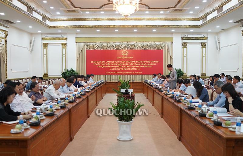 Đoàn giám sát của Quốc hội làm việc tại Tp. Hồ Chí Minh