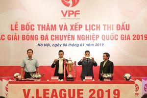 Lễ bốc thăm chính thức các giải bóng đá chuyên nghiệp quốc gia năm 2019