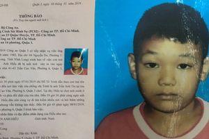 Bé trai 9 tuổi mất tích khi tới chỗ bố làm việc ở trung tâm Sài Gòn