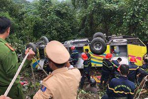 Nguyên nhân ban đầu xe chở sinh viên rơi ở đèo Hải Vân