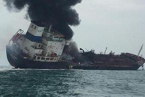 Tiếp tục tìm kiếm 2 thuyền viên tàu chở dầu bị cháy tại Hồng Công