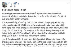 Đua nhau đăng 'tuyên bố Facebook' để bảo mật thông tin cá nhân