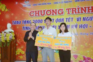 PVI trao quà-học bổng cho học sinh và người nghèo Quảng Ngãi