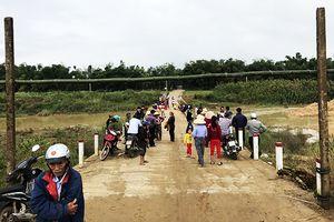 Quảng Nam: Sợ sụt lún cầu, người dân phản đối dự án nạo vét lạch nước Khe Gai