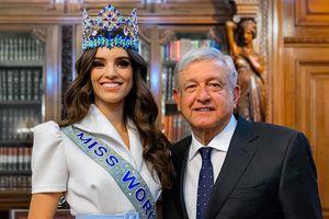 Hoa hậu thế giới 2018 được tổng thống Mexico chào đón khi về nước
