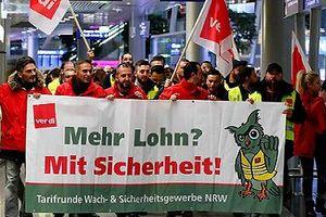 Nhân viên đình công, Đức hủy 643 chuyến bay, sân bay vắng tanh