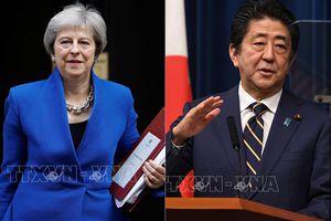 Thủ tướng Anh Theresa May và Thủ tướng Nhật Bản Shinzo Abe hội đàm