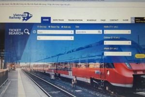 Nở rộ website 'nhái' bán vé tàu Tết giá cao