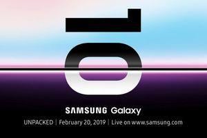 Galaxy S10 ra mắt chính thức ngày 20/2