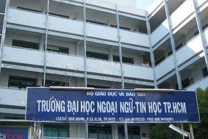 Phó hiệu trưởng Trường ĐH Ngoại ngữ- Tin học TP HCM sẽ ký bằng cho sinh viên