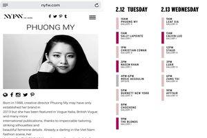 Nhà thiết kế Phương My tham dự New York Fashion Week