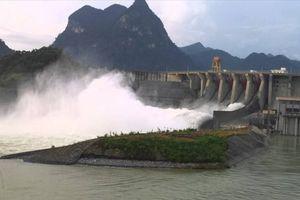 Hồ thủy điện Tuyên Quang sẽ mở 3 đợt xả nước