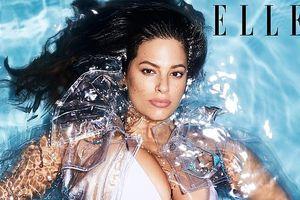 'Siêu mẫu béo' Ashley Graham nóng bỏng hút mắt trên tạp chí Elle