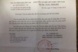 Vụ kiện kéo dài suốt thập kỷ ở Bà Rịa - Vũng Tàu: Kiến nghị của bị đơn được chuyển đến TAND cấp cao tại TP Hồ Chí Minh