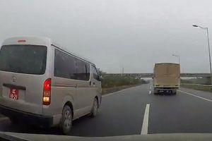 Lùi xe trên cao tốc Hà Nội - Thái Nguyên, đại úy quân đội bị đình chỉ công tác