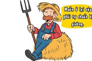 Góc cười: Lòng tốt của bác nông dân
