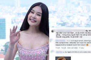 'Gắt' như fan Việt lên tận fanpage Miss Intercontinental tố Lê Âu Ngân Anh thi 'chui'