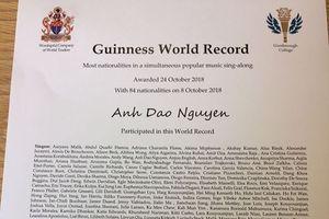 Doanh nhân Anh Đào được Guinness World Record ghi danh