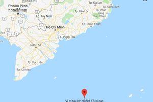 Một tàu cá bị chìm ở vùng biển phía Nam, 10 ngư dân mất tích