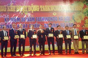 Tri ân các cá nhân, tập thể góp sức phát triển Taekwondo Hà Nội