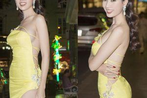 Bộ váy 'không dám nhìn nghiêng' của hoa hậu quê Tiền Giang