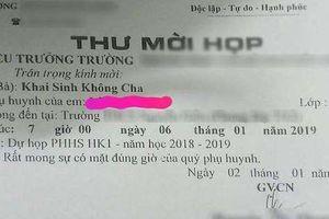 Bức thư mời họp phụ huynh kỳ dị, gây phẫn nộ ở TP HCM