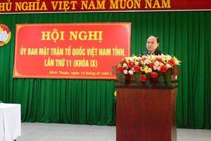Mặt trận Ninh Thuận triển khai nhiệm vụ năm 2019