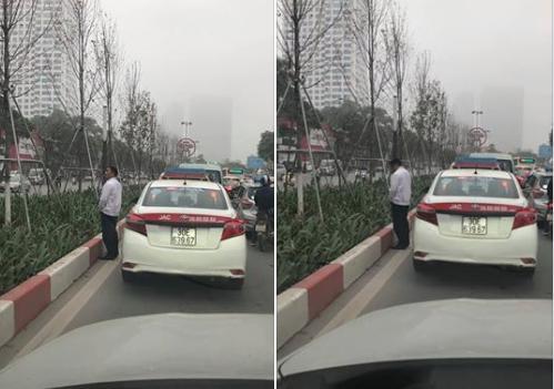 Mạng xã hội dậy sóng vì lái xe taxi 'tè bậy' giữa đường
