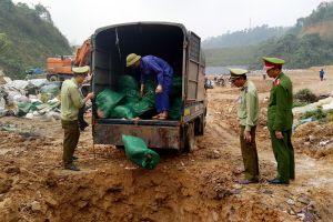 Lào Cai: Thu giữ và tiêu hủy hơn 1,2 tấn chân gà lậu