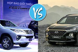 Toyota Fortuner và Hyundai SantaFe: Đại chiến SUV 7 chỗ
