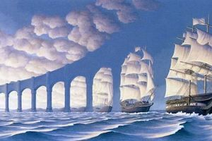 Họa sĩ Canada tạo ra những bức tranh đánh lừa thị giác khiến bạn phải 'trở đi trở lại'