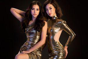 Hoa hậu Tiểu Vy, Mỹ Linh khoe đường cong nóng bỏng với váy đuôi cá